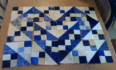 Very striking!  From Bonnie Hunter blue ridg, quilt blocks, blue heart, quiltvill quip