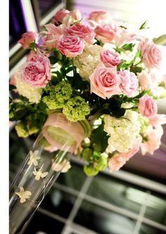 Pink & white arrangement