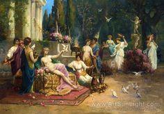 Hans Zatzka's oil painting Arcadian Spring