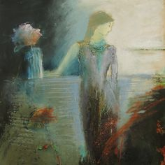 Girl with Flower...judy thorley