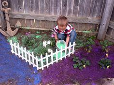 Colored Sand Garden - used Crayola Sand :)