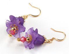 Jewelry Making Idea: Lily Blossom Earrings (eebeads.com)