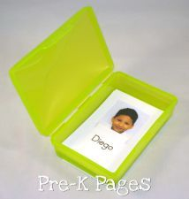 use a travel soap dish to store flashcards and card games. via www.pre-kpages.com