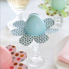 Easter DIY idea: Egg-Flower-Craft - for your table decoration