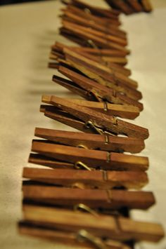 Good tutorial - staining clothes pins with steel wool and vinegar...