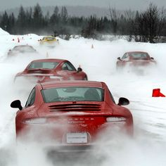 The snow is coming and these Porsche Carrera's are loving it.