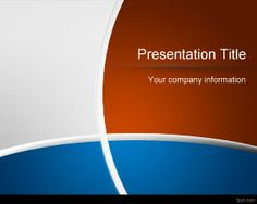 Free Blue and Red PowerPoint Template