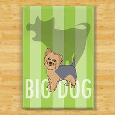 Yorkie Dog Magnet - Big Dog. $5.99, via Etsy.