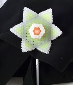 Yellow plastic lapel flower alternative button by PuffyTheSlayer, £12.00