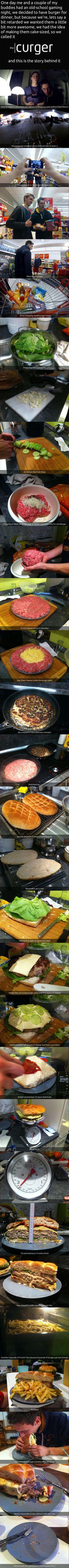 awesom burger, mega burger