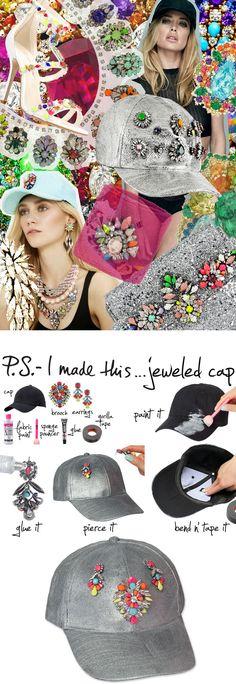 DIY Jeweled Cap
