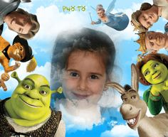Foefectos animados de Shrek para componer y enviar gratis online.