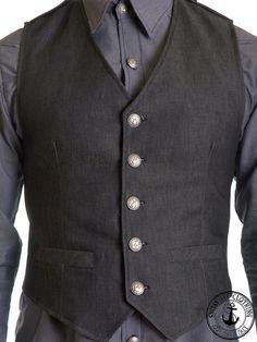 Denim Vest by Shitsville Clothing   Cityblis