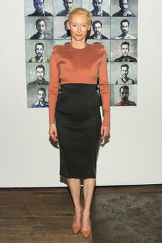 THE VISIBLE WOMAN - is it YAY or NAY to have a Best Dressed 50 over 50 List? - I guess YAY for the visibility it provides - : Tilda Swinton age 52