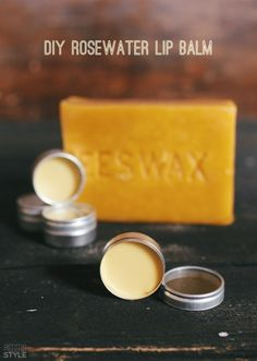 DIY Rosewater Lip Balm