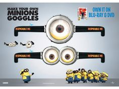 Botellas minions. Tutorial. minions, party favors, birthday parties, despicable me 2, birthdays, wallpapers, minion parti, minion party, minion goggl
