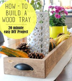 DIY Tutorial - How To Make a Wood Box to display on a dining table!  20 minute, easy-to-make do it yourself project.  You'll want to make lots of these boxes for all over the home.