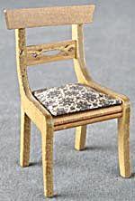 Vintage Wood Dollhouse Chair