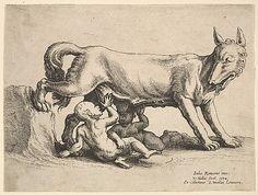 Wenceslaus Hollar (Wenzel Vaclav) (Bohemian, 1607–1677), Romulus and Remus 1652.
