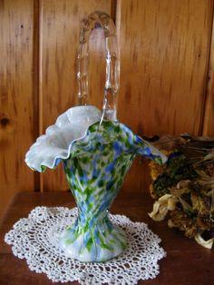 Fenton Glass Basket