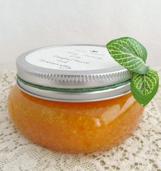 Rise and Shine: Salt and Honey Scrub with Grapefruit and Rosemary