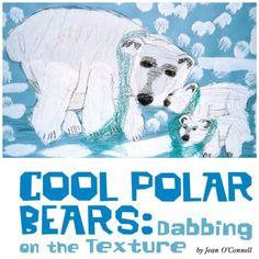 ador lesson, winter art, polar bears, art project, art teacher, grade art, art lesson, wintertim art, 2nd grade