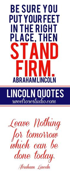 Perfectly Patriotic Abraham Lincoln Prints from Sweet Rose Studio