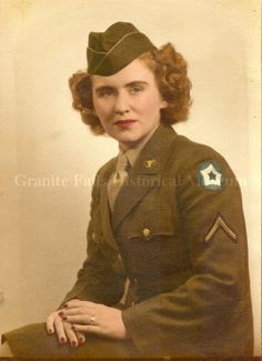 WWII photograph of Helen Ashe in uniform. (Granite Falls Historical Museum)