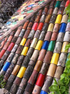 Colorful roofing tiles Would this pass the local zoning rules? What would your neighbors say?