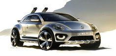 World premiere of the #Volkswagen Beetle Dune (concept car)