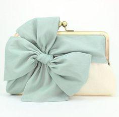 Wedding Clutch / Mint Clutch / Bridesmaid Gift