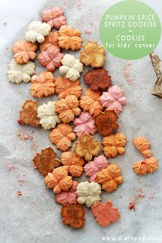 Buttery and delicious spritz cookies flavored with everyone's Fall-favorite, pumpkin spice! They really are SO! GOOD!
