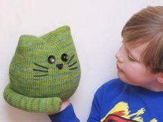 Pickles the Cat Pattern - Amigurumi Softie Knitting PDF Pattern