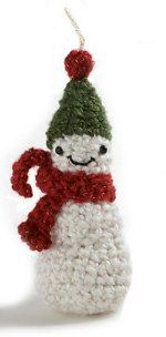 1500 Free Amigurumi Patterns: Amigurumi Snowman Ornament
