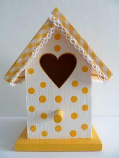 decorative wood little birdhouse / casita de pájaros by lalole