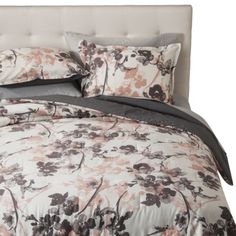 Pink Watercolor Floral Comforter Set