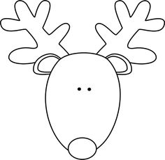 Reindeer Head Coloring Sheets Images & Pictures - Becuo