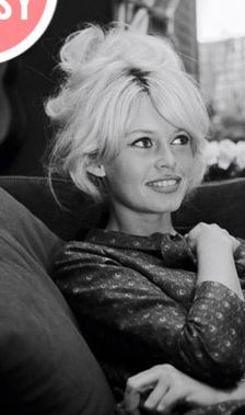 Brigitte bardot messy updo