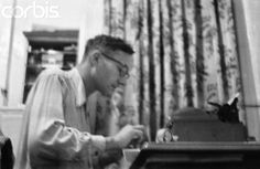 A typewriter and William S Burroughs