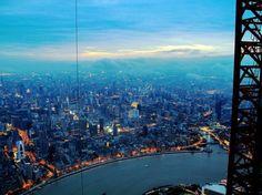 van, tower, city photography, buildings, aerial photography, blog, shanghai, china, cameras