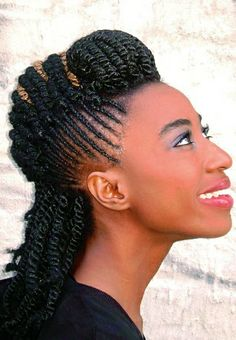 She stuns with #twists #naturalhairstyle  Loved By NenoNatural!