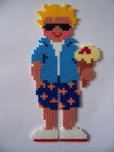 Boy - hama perler beads
