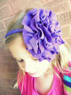 diy flower headband, maybe not so big for the girls