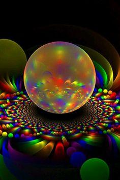 amazing rainbow fractal art - photo #22