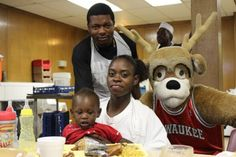 The Milwaukee Bucks Community Caravan posted a community assist by collaborating with The Gathering of Southeastern Wisconsin to serve breakfast to the homeless and hungry at St. James Episcopal Church.