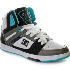 Womens DC High Tops Shoes White Black White.jpg 750 500 pixels