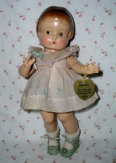 1929 Effanbee PATSY Doll -- Patent Pending * Rare Mollye's Wardrobe Included - these were worn by Shirley Temple & Effanbee Dolls in the 1930's - highly sought after!!!!