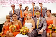 Tangerine and Gray - You can't go wrong!