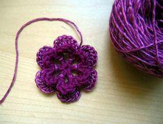 10 ways to crochet a flower. pines, hats, crochet flowers, purple, crocheted flowers, flower tutorial, crochet flower patterns, flower crochet, crafts