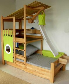 It's a toddler bed. It's a jungle gym. And definitely the kind of furniture that makes sending your child to their room a no go as punishment. :-)